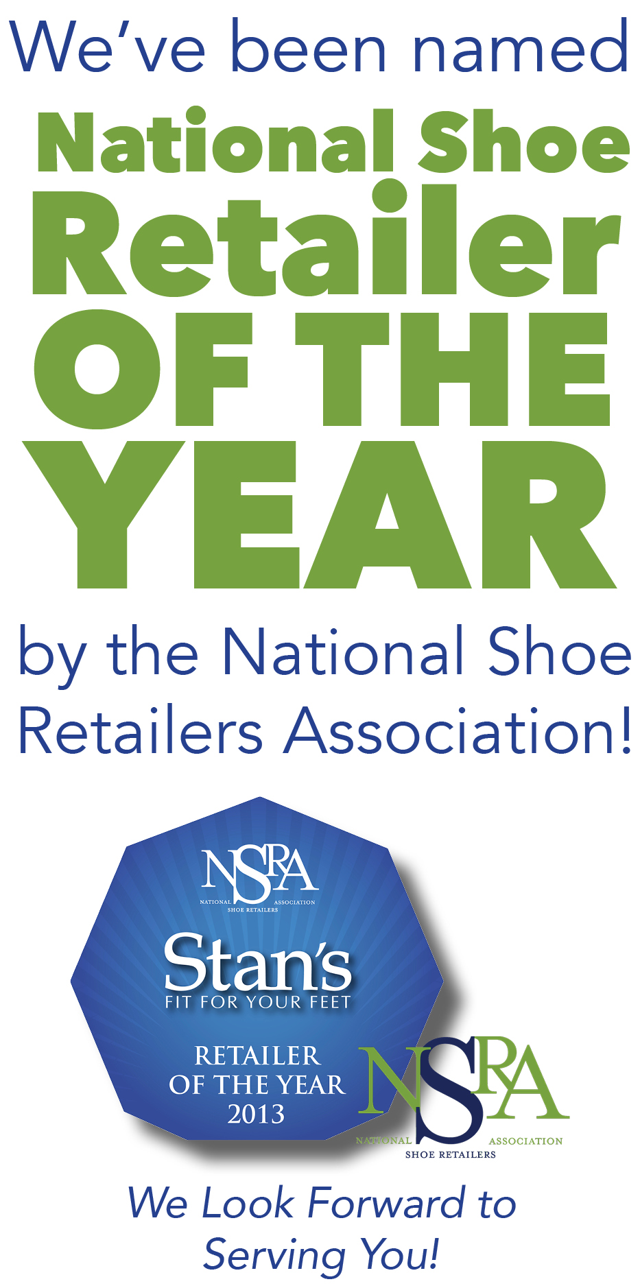 National Shoe Retailer of The Year Stan's Fit For Your Feet