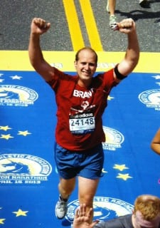 Dr. McCartan running the Boston Marathon.