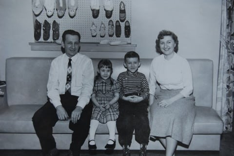 The Sajdaks (L to R): Stan, Sue, Jim and Emerence.