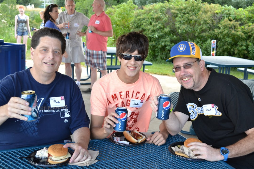 Stan's and New Balance Milwaukee staff tailgate at a 2013 Brewers game.
