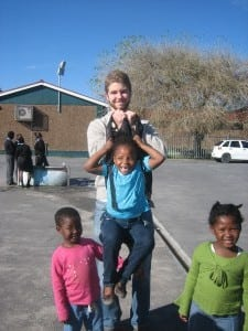 Brian with students from the Amy Biehl Foundation's after-school program in Nyanga Township, Cape Town, South Africa.