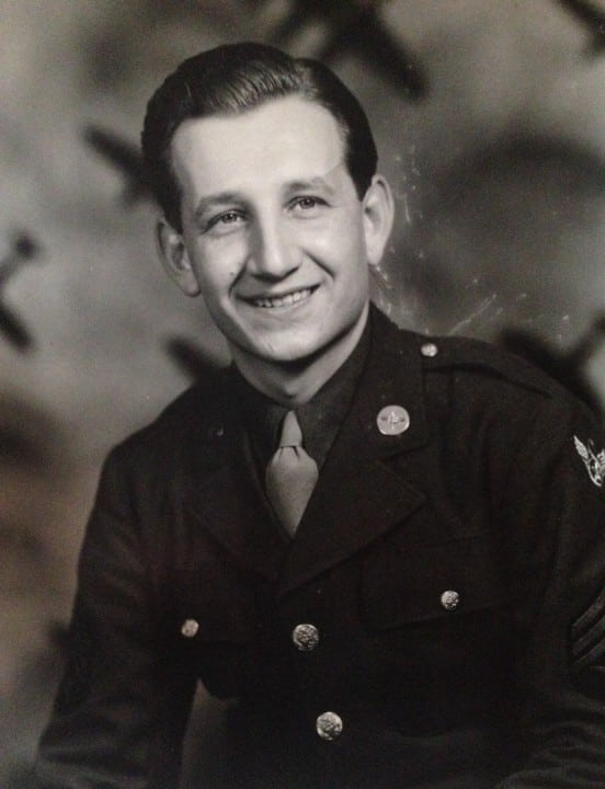 Stan Sajdak during his WWII service with the Army Air Corps