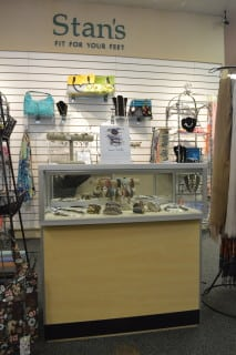 Stan's new jewelry and accessory department!