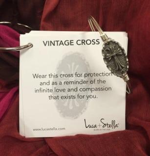 Luca+Stella's Vintage Cross Bracelet