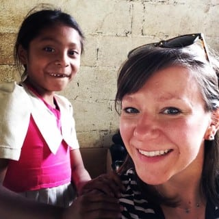 Megan and a young Guatemalan girl.
