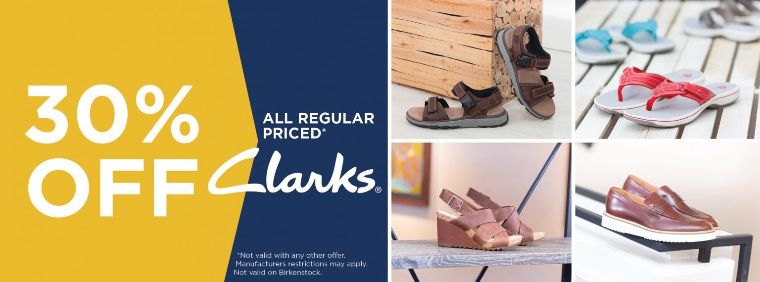 30% off all regular priced Clarks