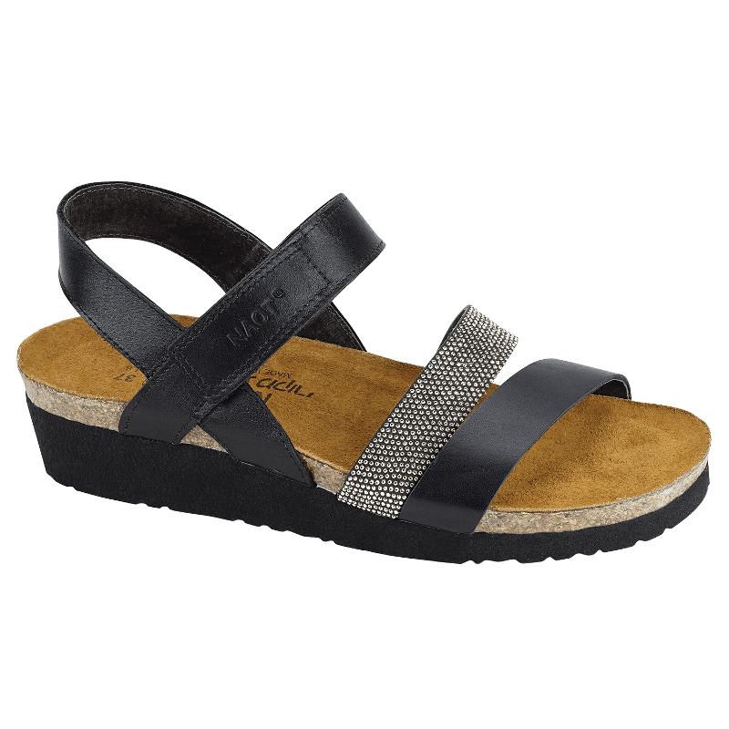 6673e7744fc0 Naot Krista Black Matte Leather with Silver Rivets - Stan s Fit For Your  Feet