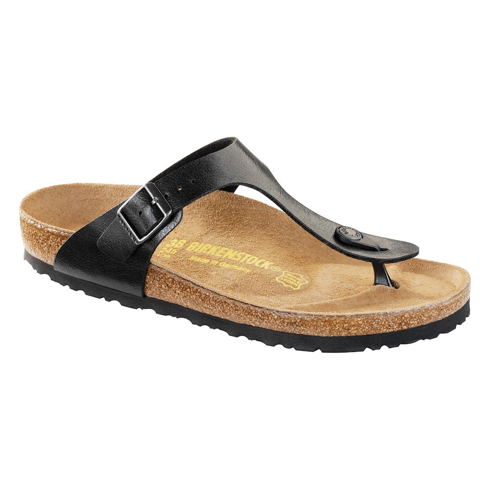 196109fd666 Birkenstock Gizeh Birko-Flor Licorice - Stan s Fit For Your Feet
