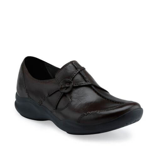 e8e83a55464 Clarks Wave Run Dark Brown Leather - Stan s Fit For Your Feet