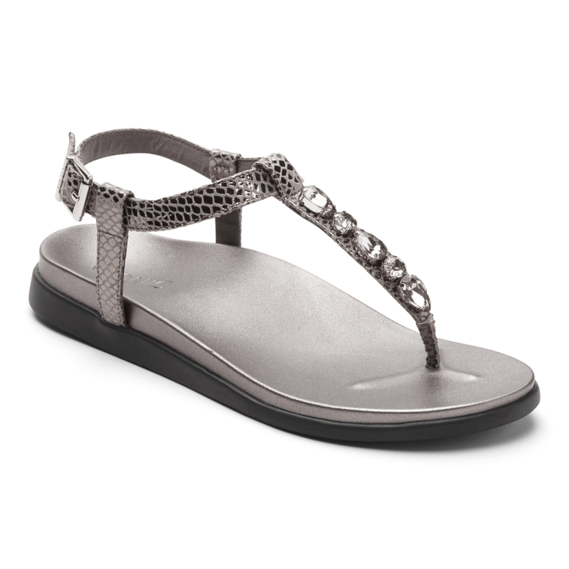 8aafa8205fa8 Vionic Boca Pewter Snake - Stan s Fit For Your Feet