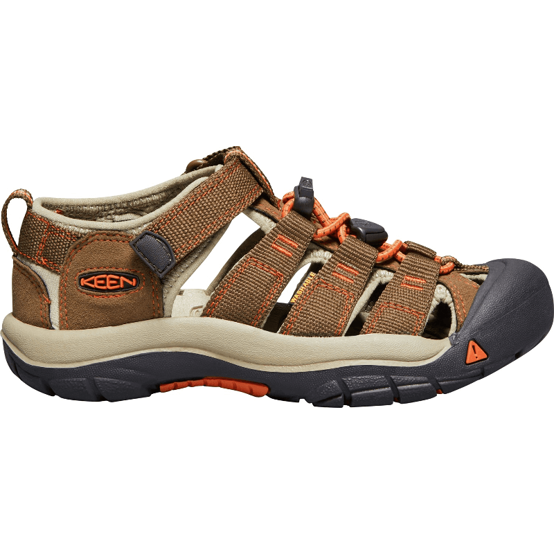 e294c584c9d11 Keen Big Kids Newport H2 Dark Earth Spicy Orange - Stan s Fit For Your Feet