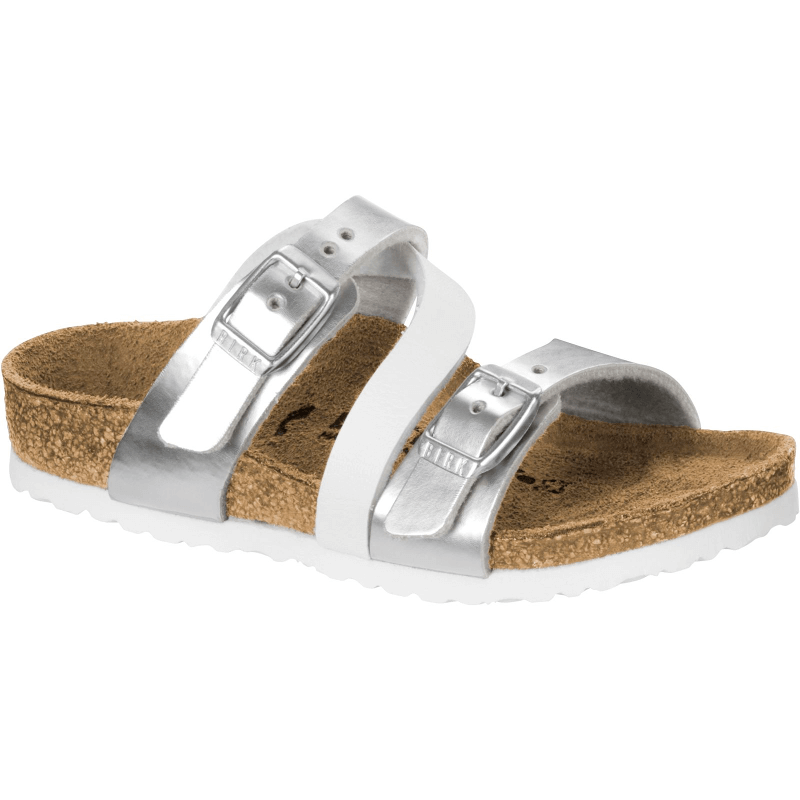 f032c0f52428 Birkenstock Salina Silver White - Stan s Fit For Your Feet
