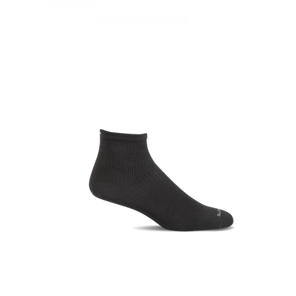 SW14W Plantar Ease Qtr Black Solid