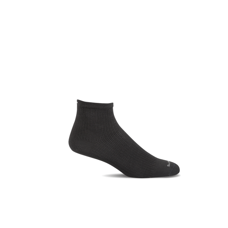 SW14W_Plantar Ease Qtr_Black Solid