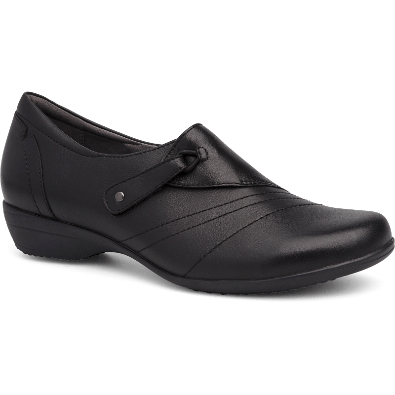 eb0d1ae3490 Dansko Franny Black Milled Nappa - Stan s Fit For Your Feet