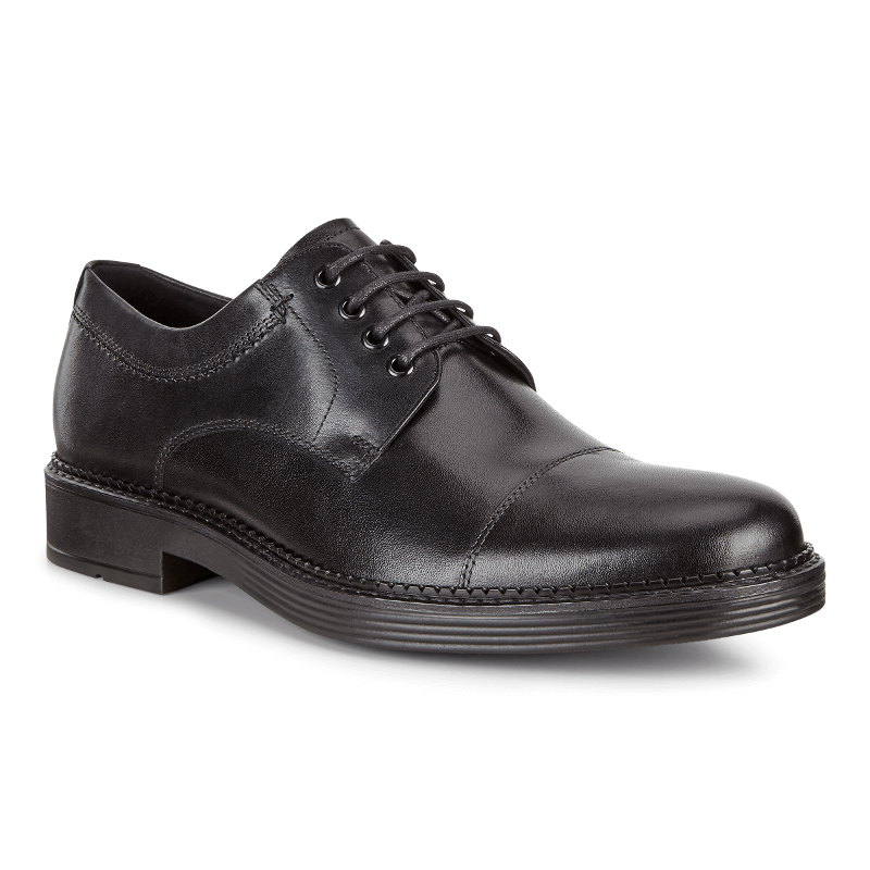 Ecco Newcastle Cap Toe Tie Black Stans Fit For Your Feet