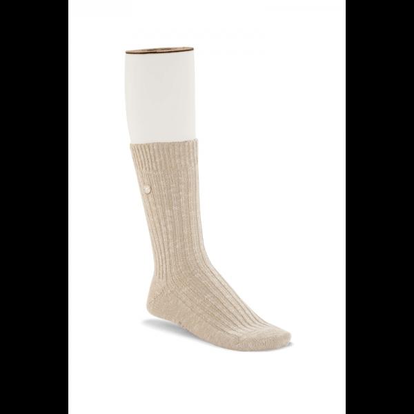 Cotton Slub Beige White Womens Socks 1008033 1600x1600