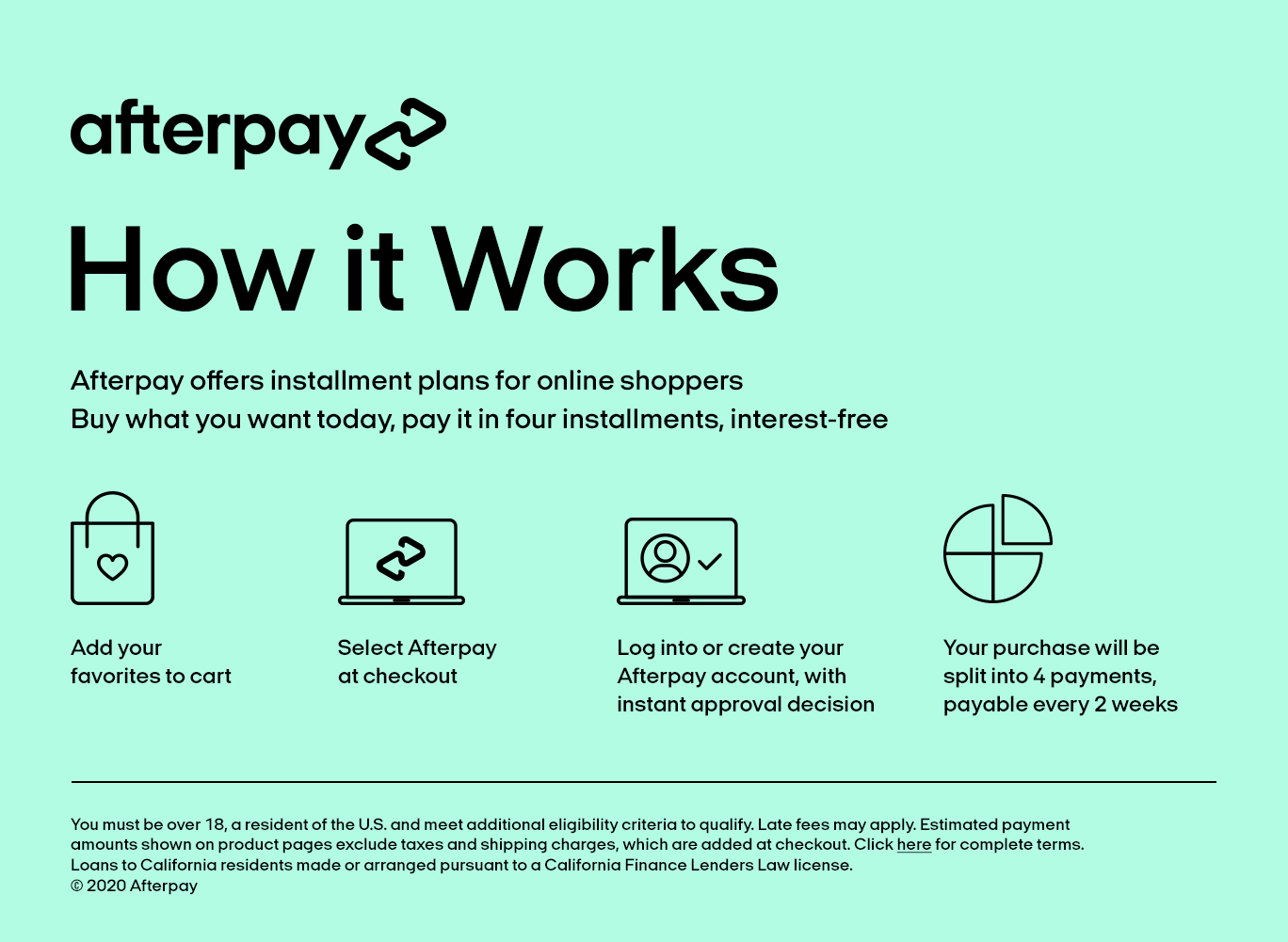 Pay With Afterpay - Stan's Fit For Your