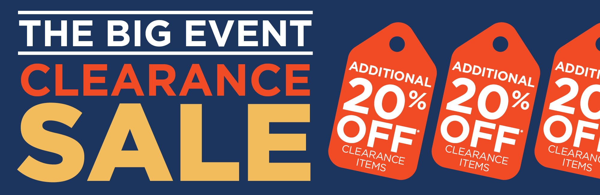 Shop The Big Event: Clearance SAVE 20% Off All Clearance!