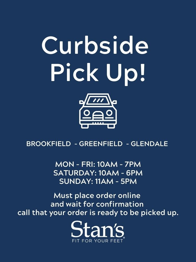 Stan's Offers Curbside Pick Up!