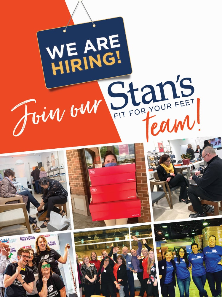 We're hiring at Stan's, The Vionic Store, and New Balance Milwaukee!