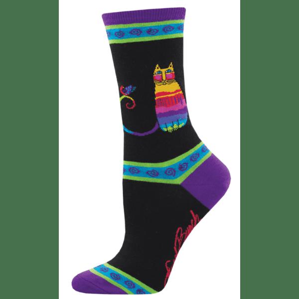 Socksmith Rainbow Cat Black