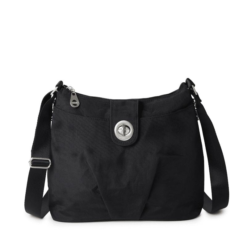 Baggallini Sorrento Hobo Bag Black Front-min