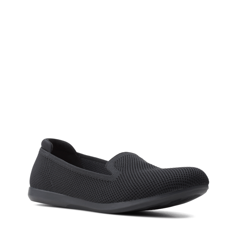 Clarks Carly Dream Black Solid Knit Main
