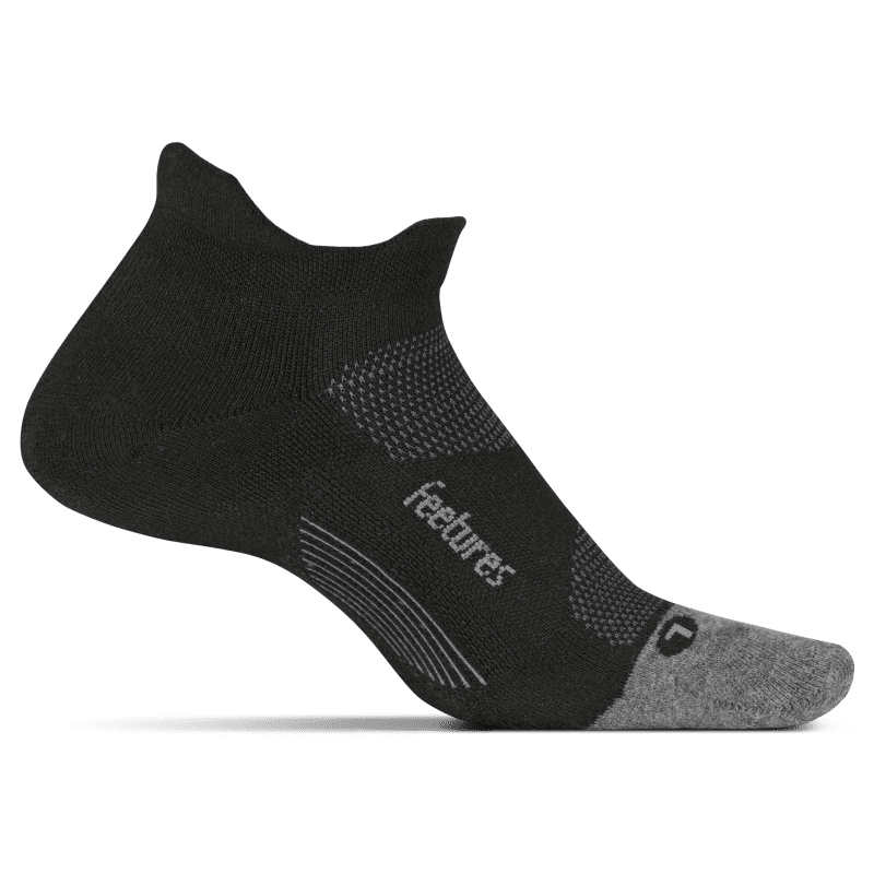 Feetures Elite Light Cushion No Show Black-min