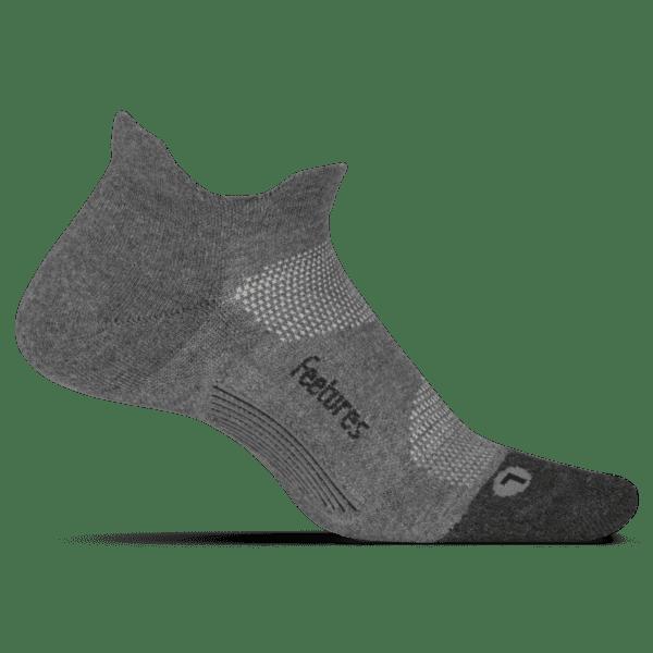 Feetures Elite Light Cushion No Show Gray min