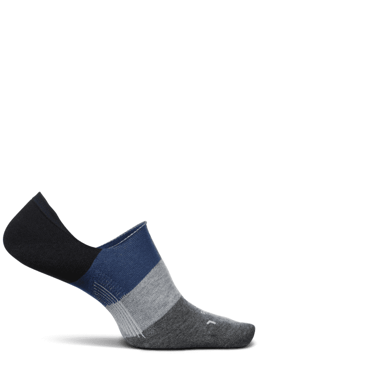 Feetures Everyday No Show Mod Block Navy-min