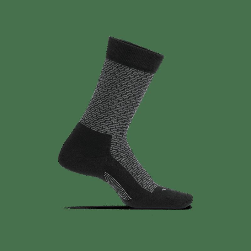 Feetures HexTex Cushion Crew Black-min