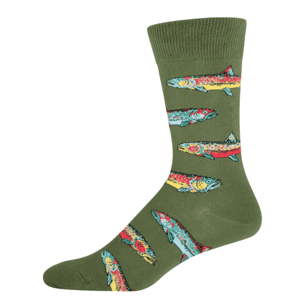 Socksmith Trout Parrot Green min