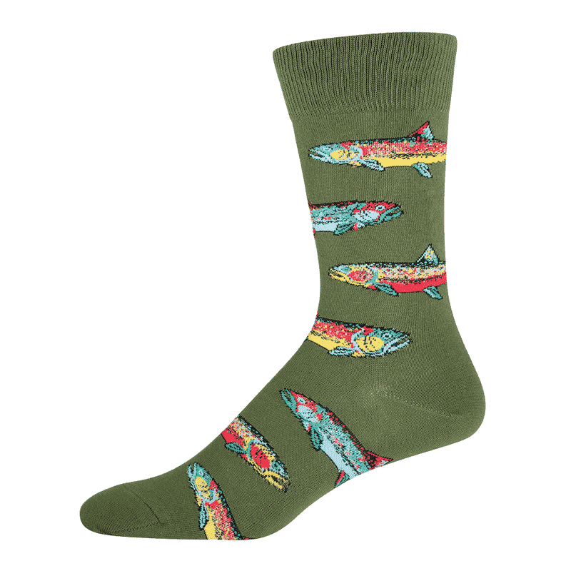 Socksmith Trout Parrot Green-min