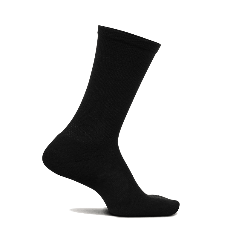 Feetures Therapeutic Cushioned Crew Black-min
