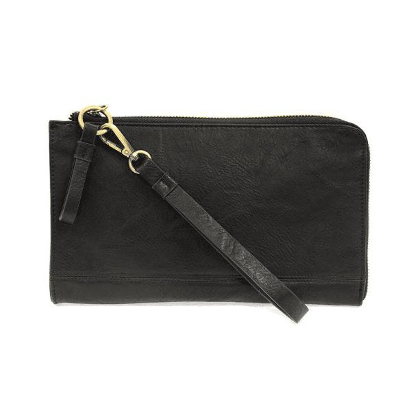 Joy Susan Karina Convertible Wristlet and Wallet Black Main-min