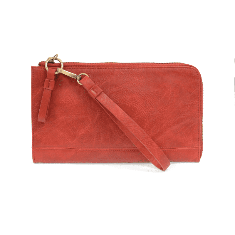 Joy Susan Karina Convertible Wristlet and Wallet Red Main-min