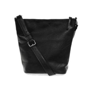 Joy Susan Nori Crossbody Bucket Bag Convertible Tote Black Back min