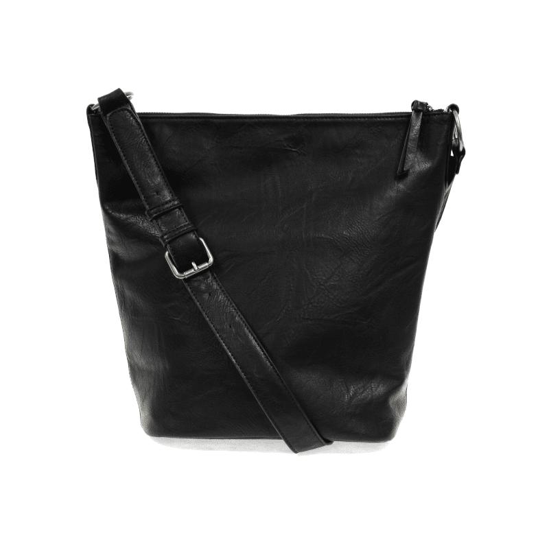 Joy Susan Nori Crossbody Bucket Bag Convertible Tote Black Back-min