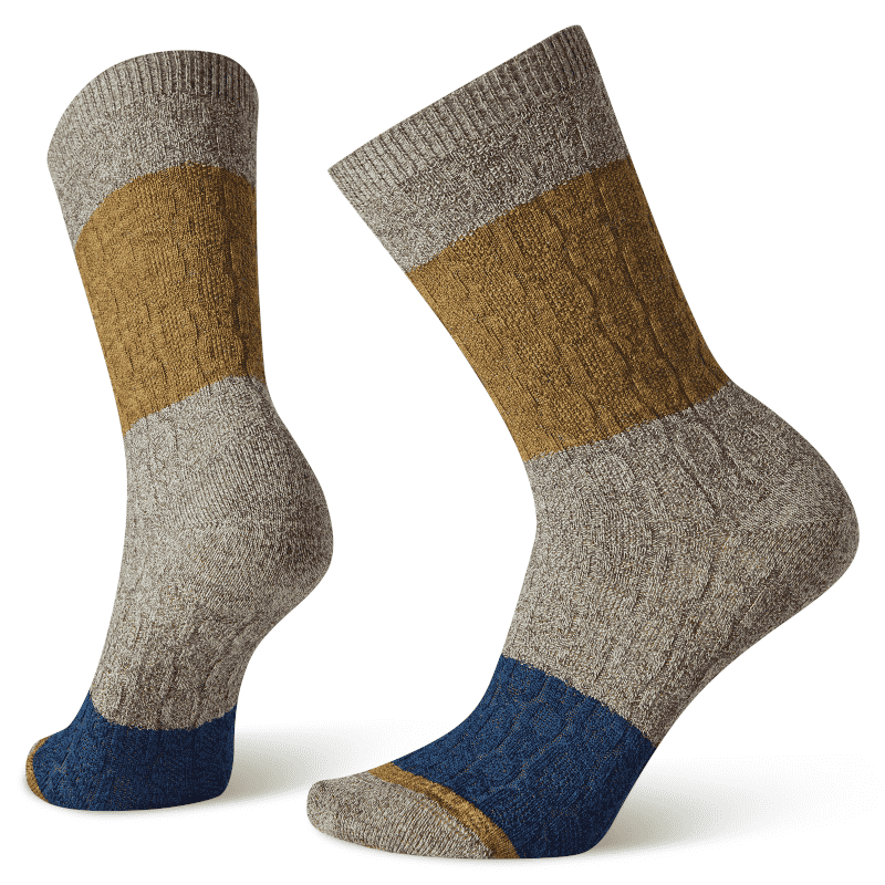 Smartwool Color Block Cable Crew Taupe-min
