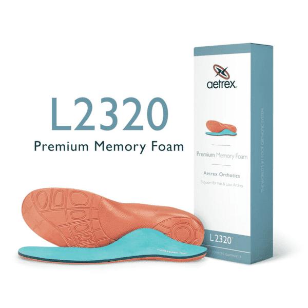 Aetrex L2320 Mens Premium Memory Foam Posted Orthotics Pair with Box min