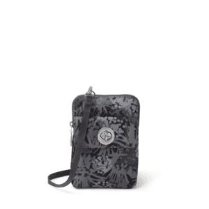 Baggallini Lima RFID Mini Bag Pewter Thistle Front min