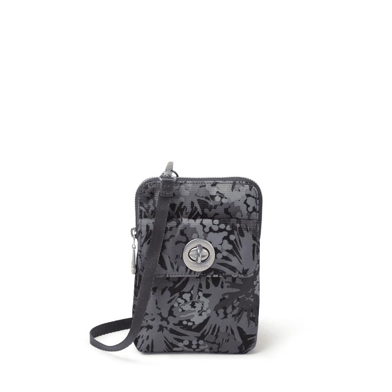 Baggallini Lima RFID Mini Bag Pewter Thistle Front-min