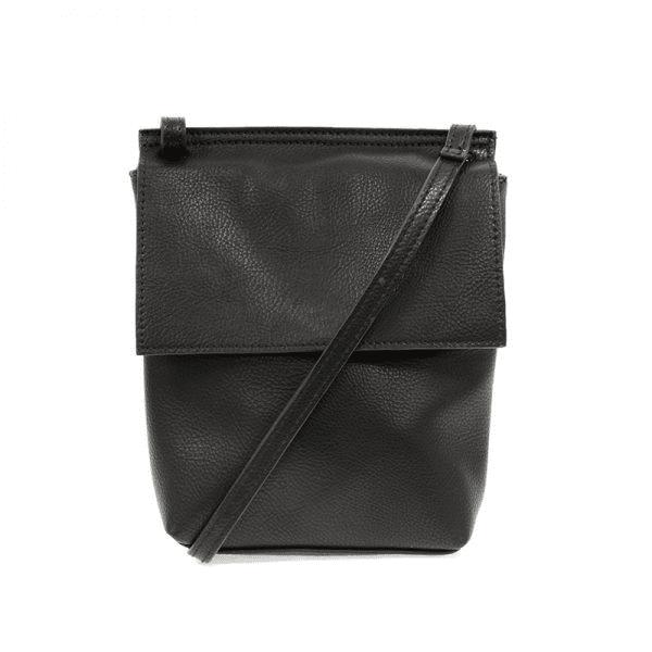 Joy Susan Aimee Front Flap Crossbody Bag Black Main-min