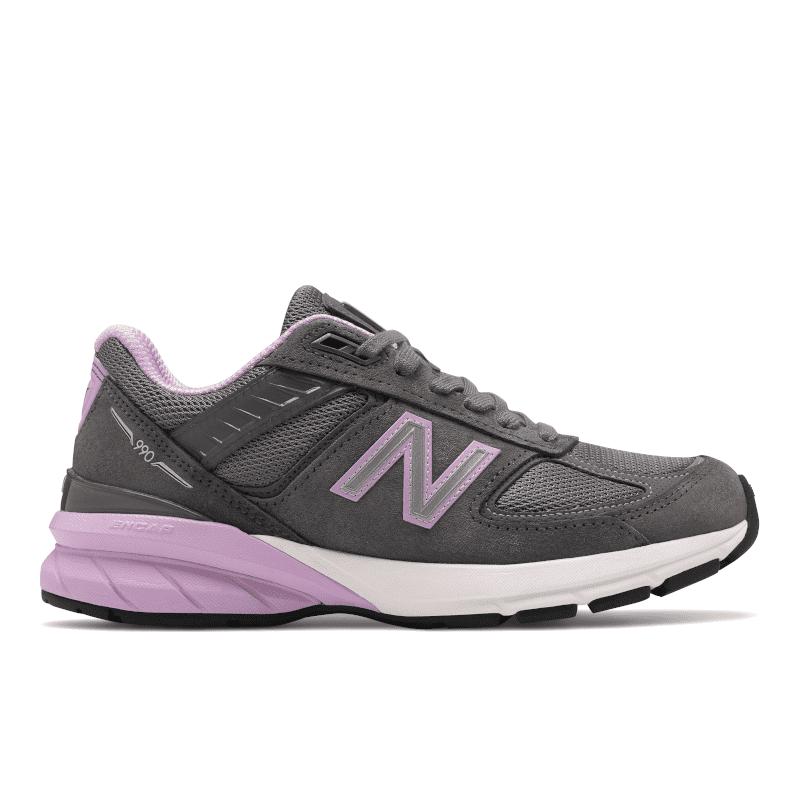 New Balance 990v5 W990DV5 Lead-Dark Violet Glo Right-min