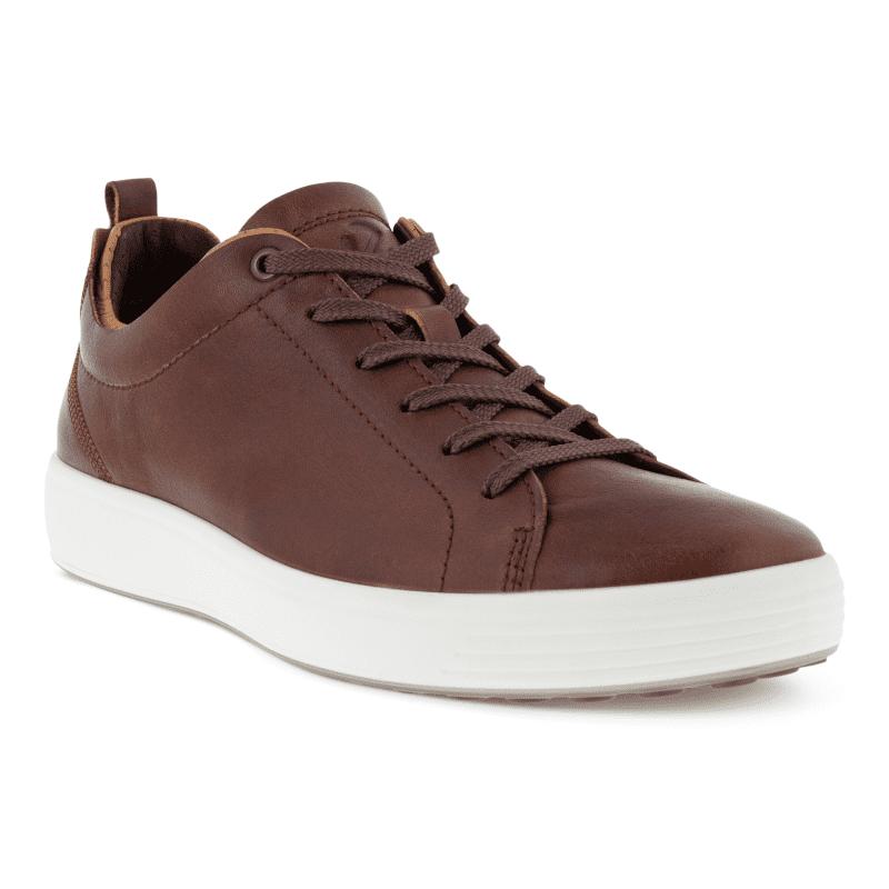 ECCO Soft 7 Men's Craze Sneaker Whisky Cashmere Main-min