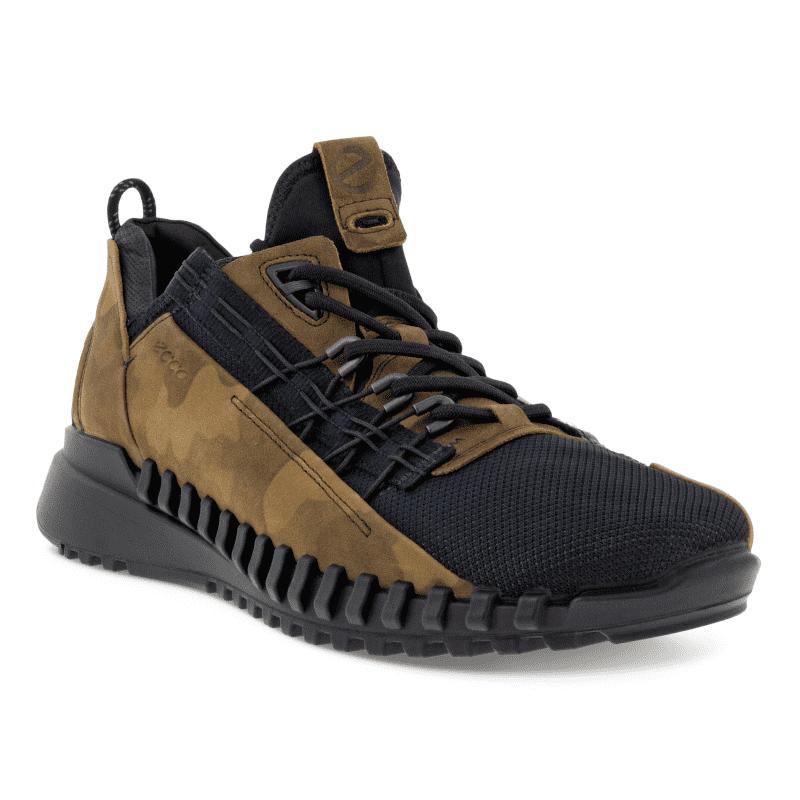 ECCO Zipflex Men's Sneaker Tarmac Black Main-min