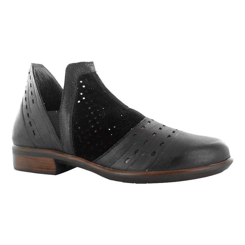 Naot Rivotra Peforated Black Suede-min