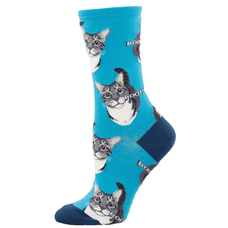 Socksmith Boop Cat Blue-min