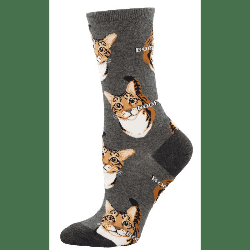 Socksmith Boop (Cat) Grey Heather-min